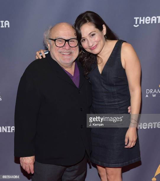 Danny DeVito and Lucy DeVito attend the 2017 Drama Desk Awards at Anita's Way on June 4 2017 in New York City