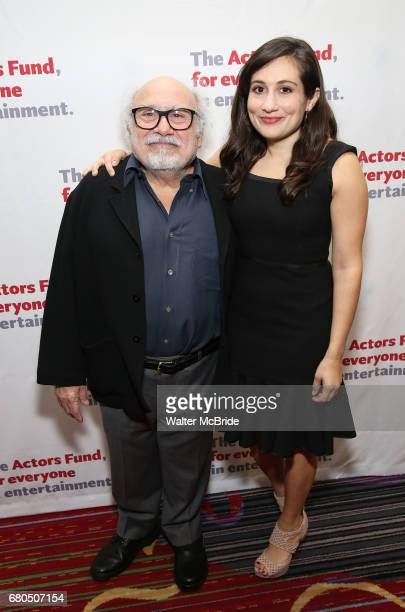 Danny DeVito and Lucy DeVito attend The Actors Fund Annual Gala at the Marriott Marquis on 5/8//2017 in New York City