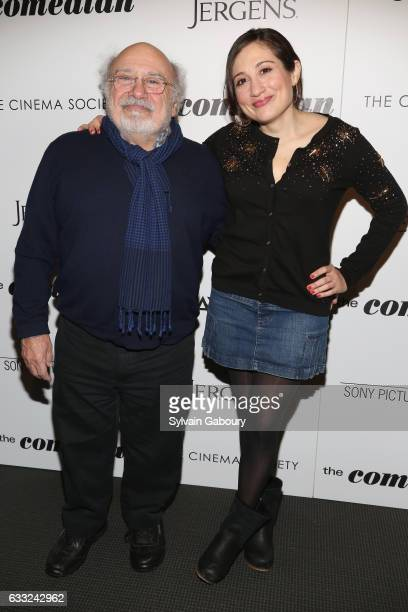 Danny DeVito and Lucy DeVito attend The Cinema Society with Avion and Jergens Host a Screening of Sony Pictures Classics' 'The Comedian' on January...
