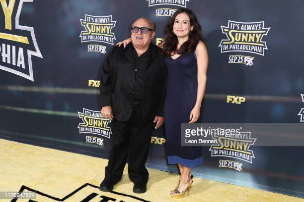"Danny DeVito and Lucy DeVito attend the Premiere Of FX's ""It's Always Sunny In Philadelphia"" Season 14 at TCL Chinese 6 Theatres on September 24,..."