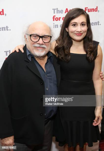 Danny DeVito and Lucy DeVito attends The Actors Fund Annual Gala at the Marriott Marquis on 5/8//2017 in New York City