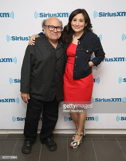 Danny DeVito and Lucy DeVito visit at SiriusXM Studio on April 18, 2016 in New York City.