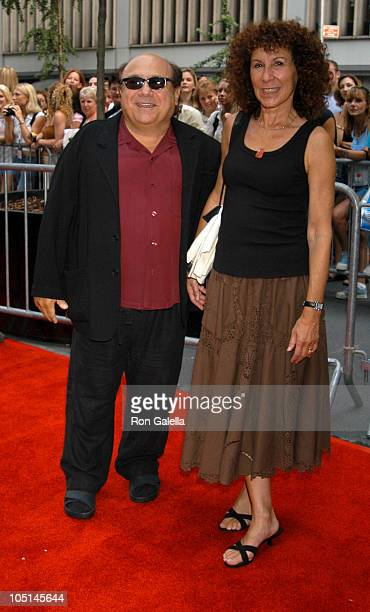 Danny DeVito and Rhea Perlman during IFC Premiere of Camp Outside Arrivals New York City at The Ziegfeld Theater in New York City New York United...