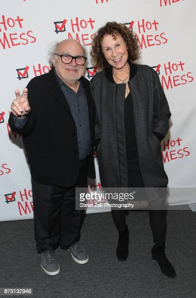 Danny DeVito and Rita Perlman attend 'Hot Mess' Opening Night at Jerry Orbach Theater on November 16 2017 in New York City