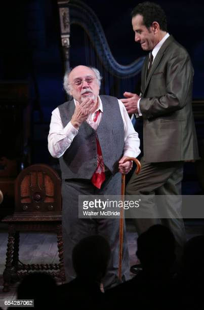 Danny DeVito and Tony Shalhoub during Broadway Opening Night performance Curtain call for the Roundabout Theatre Production of 'The Price' at the...