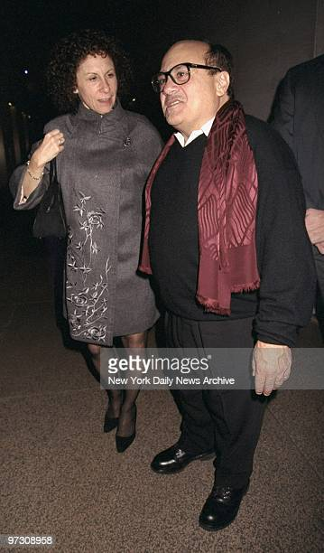 Danny DeVito and wife Rhea Perlman arrive at UniversalMCA record company's Grammy party at the Four Seasons