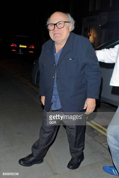 Danny DeVito arriving at the Chiltern Firehouse on August 19 2017 in London England
