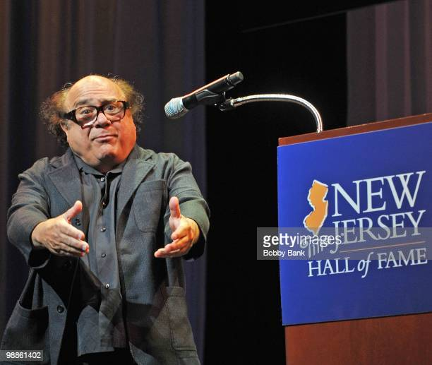 Danny DeVito attends the 3rd Annual New Jersey Hall of Fame Induction Ceremony at the New Jersey Performing Arts Center on May 2 2010 in Newark New...