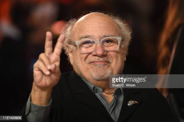Danny Devito attends the 'Dumbo' European premiere at The Curzon Mayfair on March 21 2019 in London England