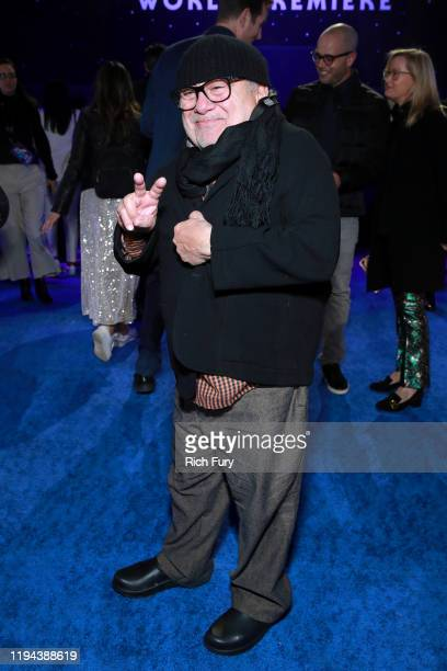 "Danny DeVito attends the Premiere of Disney's ""Star Wars: The Rise Of Skywalker"" on December 16, 2019 in Hollywood, California."