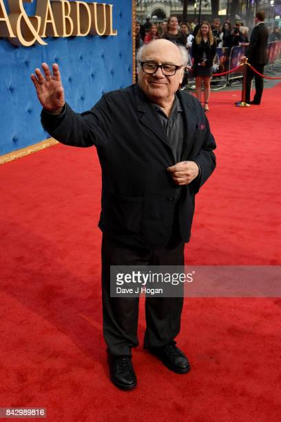 """Danny DeVito attends the """"Victoria & Abdul"""" UK premiere at Odeon Leicester Square on September 5, 2017 in London, England."""