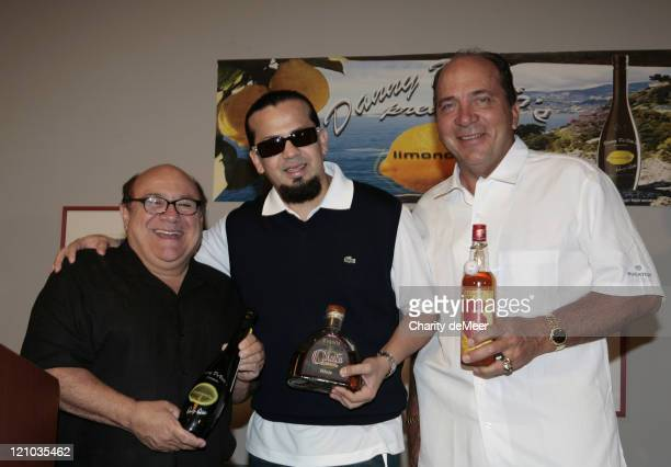 Danny DeVito Cruz Martinez and Johnny Bench during Danny DeVito's Premium Limoncello Liqueur Launch at Swan Hotel in Lake Buena Vista Flordia United...