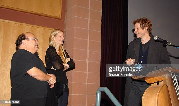 Danny DeVito Gwyneth Paltrow and Jake Paltrow during 2007 Sundance Film Festival 'The Good Night' Premiere QA at Eccles Theatre in Park City Utah...