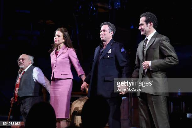 Danny DeVito Jessica Hecht Mark Ruffalo and Tony Shalhoub attend the Arthur Miller's 'The Price' Broadway Opening Night at American Airlines Theatre...
