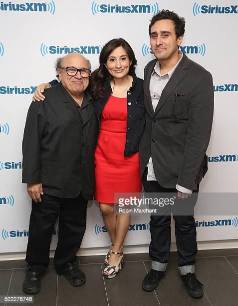 Danny DeVito, Lucy DeVito and Jake DeVito visit at SiriusXM Studio on April 18, 2016 in New York City.