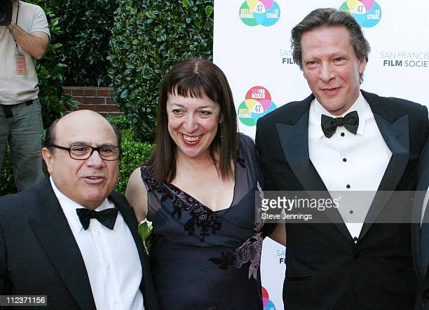 Danny DeVito, Marianne Leone and Chris Cooper during Film Society Awards Night in San Francisco at Ritz-Carlton Hotel in San Francisco, United States.