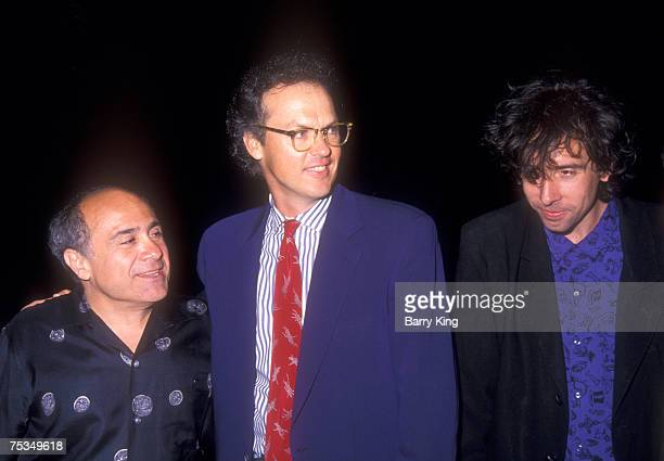 Danny DeVito Michael Keaton and director Tim Burton at World Premiere of Batman Returns at Mann's Chinese Theatre in Hollywood California on June 16...