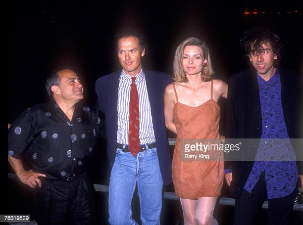 Danny DeVito Michael Keaton Michelle Pfeiffer and director Tim Burton at World Premiere of Batman Returns at Mann's Chinese Theatre in Hollywood...