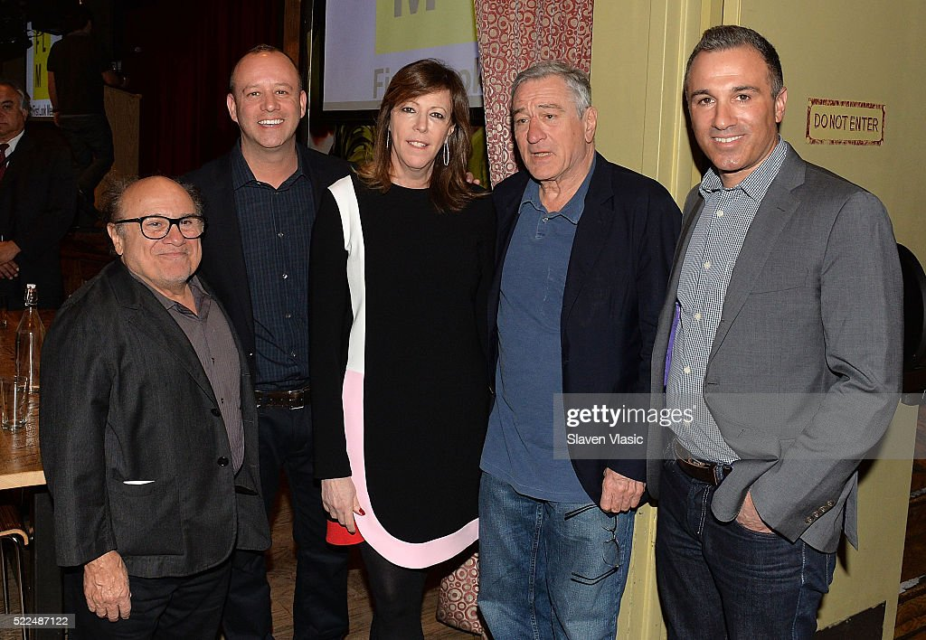Danny DeVito, Robert De Niro, Jane Rosenthal and guests attend Directors Brunch at 2016 Tribeca Film Festival at City Winery on April 19, 2016 in New York City.