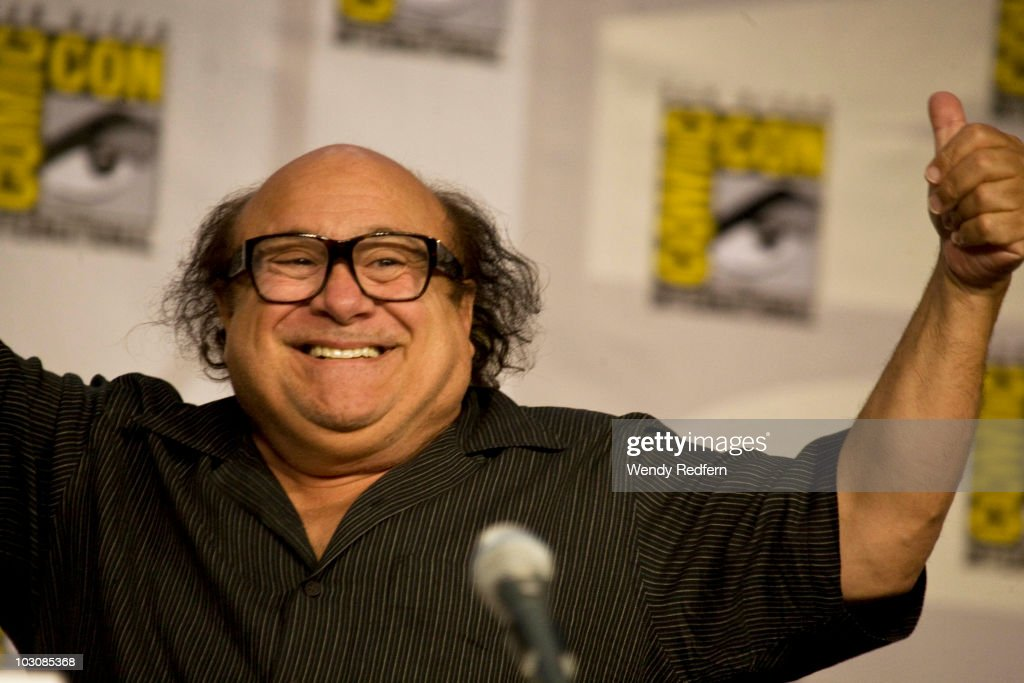 Danny DeVito speaks at the It's Always Sunny in Philadelphia panel at Comic-Con on July 25, 2010 in San Diego, California.