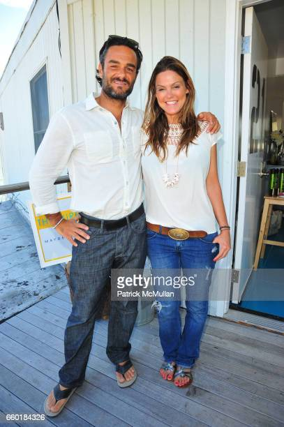 Danny DiMauro and Kerry Malouf attend The Maybelline New York/ Garnier Surf Salon Day 2 at The Surf Lodge Montauk NY on July 5 2009