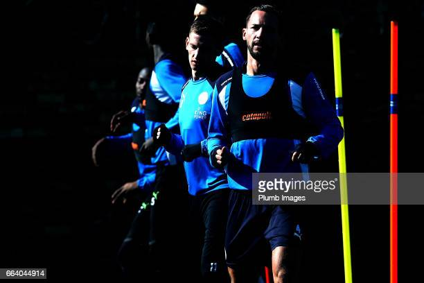April 03: Danny Drinkwater during the Leicester City training session at Belvoir Drive Training Complex on April 03 , 2017 in Leicester, United...