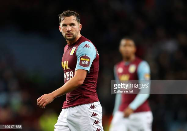 Danny Drinkwater of Aston Villa during the Premier League match between Aston Villa and Manchester City at Villa Park on January 12, 2020 in...