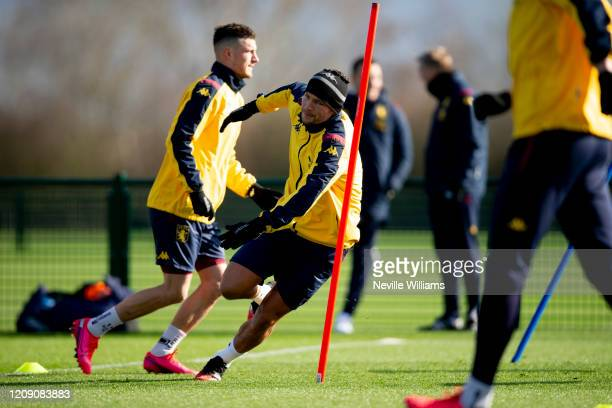 Danny Drinkwater of Aston Villa in action during a training session at Bodymoor Heath training ground on February 27 2020 in Birmingham England