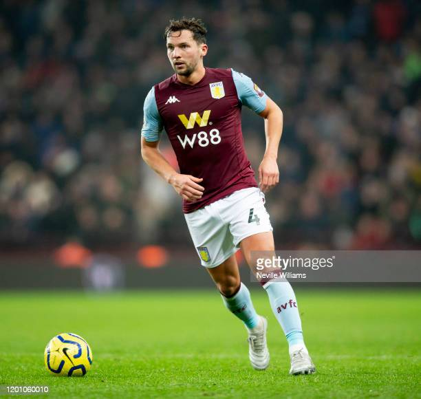 Danny Drinkwater of Aston Villa in action during the Premier League match between Aston Villa and Watford FC at Villa Park on January 21 2020 in...
