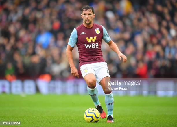 Danny Drinkwater of Aston Villa in action during the Premier League match between Aston Villa and Tottenham Hotspur at Villa Park on February 16,...