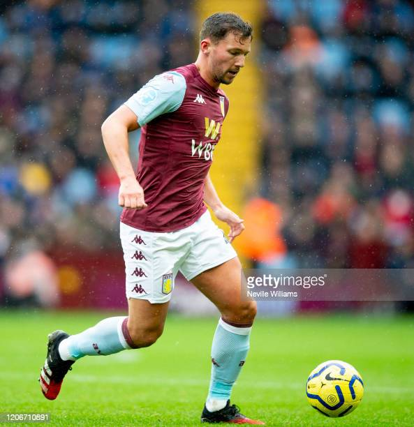 Danny Drinkwater of Aston Villa in action during the Premier League match between Aston Villa and Tottenham Hotspur at Villa Park on February 16 2020...