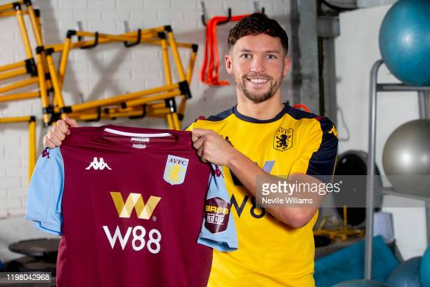 Danny Drinkwater of Aston Villa poses for a picture at Bodymoor Heath training ground on January 07 2020 in Birmingham England