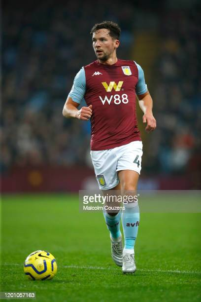 Danny Drinkwater of Aston Villa runs with the ball during the Premier League match between Aston Villa and Watford FC at Villa Park on January 21...