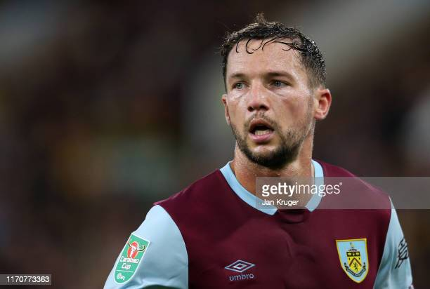 Danny Drinkwater of Burnley in action during the Carabao Cup Second Round match between Burnley and Sunderland at Turf Moor on August 28 2019 in...