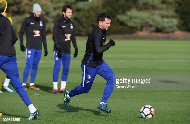 Danny Drinkwater of Chelsea during a training session at Chelsea Training Ground on January 16 2018 in Cobham England
