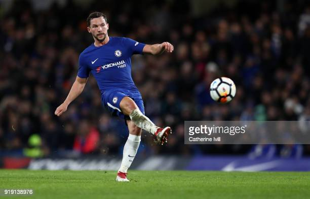Danny Drinkwater of Chelsea during The Emirates FA Cup Fifth Round match between Chelsea and Hull City at Stamford Bridge on February 16 2018 in...