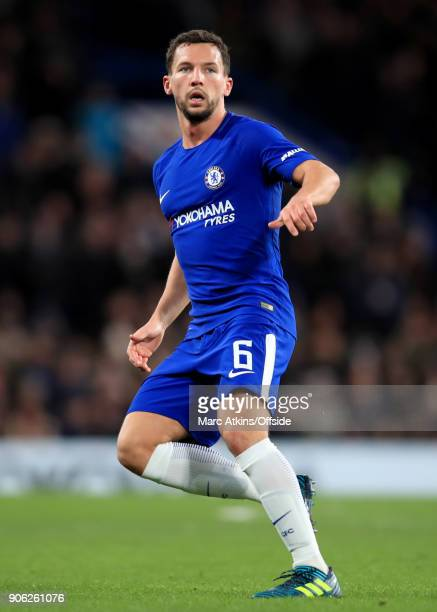 Danny Drinkwater of Chelsea during the Emirates FA Cup Third Round Replay match between Chelsea and Norwich City at Stamford Bridge on January 17...