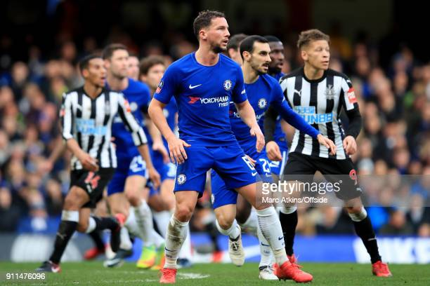 Danny Drinkwater of Chelsea during the FA Cup 4th Round match between Chelsea and Newcastle United at Stamford Bridge on January 28 2018 in London...