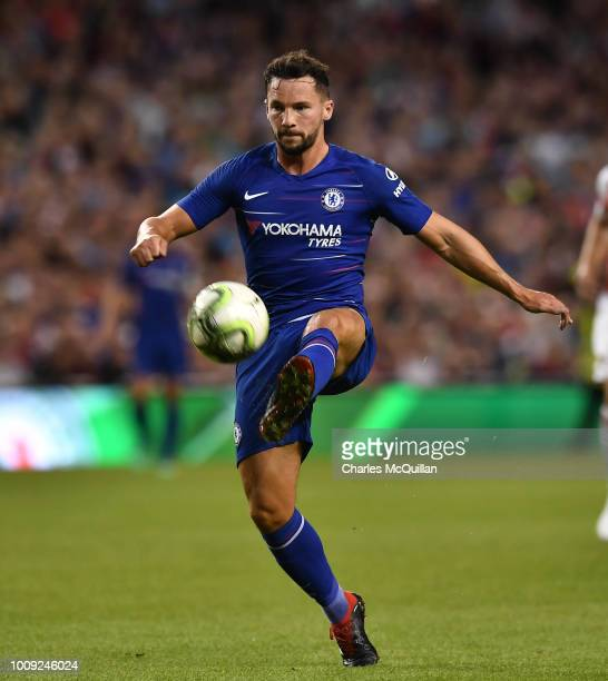 Danny Drinkwater of Chelsea during the Preseason friendly International Champions Cup game between Arsenal and Chelsea at Aviva stadium on August 1...