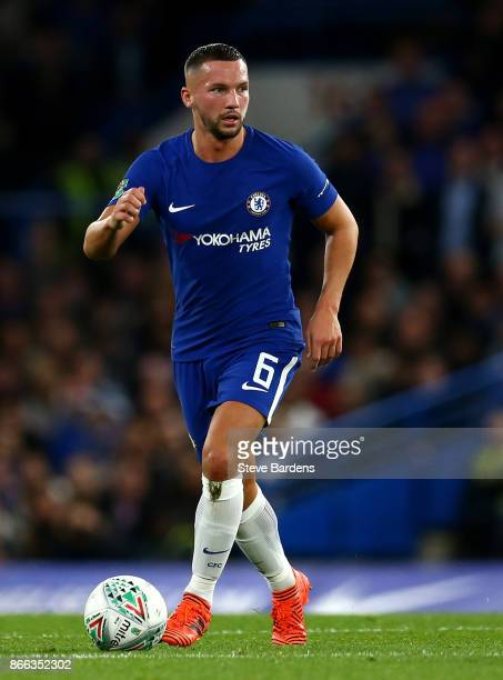 Danny Drinkwater of Chelsea in action during the Carabao Cup Fourth Round match between Chelsea and Everton at Stamford Bridge on October 25 2017 in...