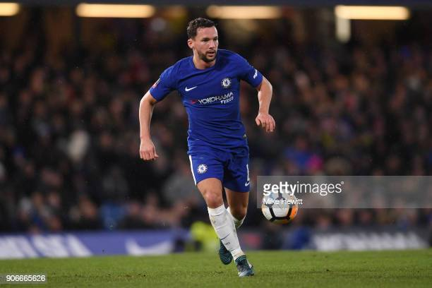 Danny Drinkwater of Chelsea in action during The Emirates FA Cup Third Round Replay between Chelsea and Norwich City at Stamford Bridge on January 17...