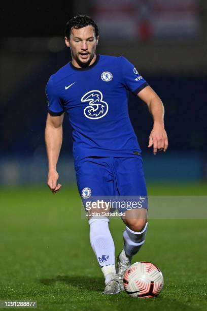 Danny Drinkwater of Chelsea in action during the Premier League 2 match between Chelsea and Tottenham Hotspur at Kingsmeadow on December 14, 2020 in...