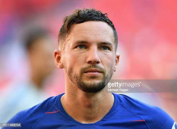 Danny Drinkwater of Chelsea looks dejected following his side's defeat during the FA Community Shield between Manchester City and Chelsea at Wembley...