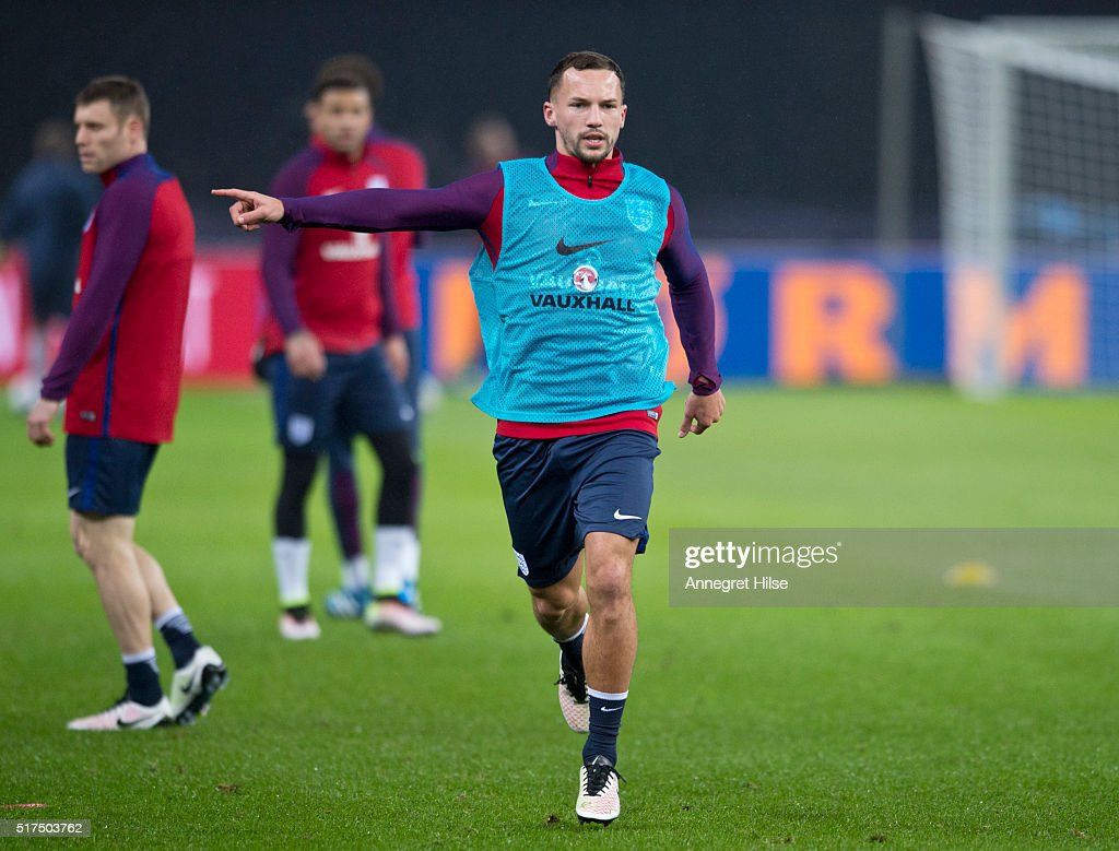 Danny Drinkwater of England in action during the England training session at Olympic Stadium on March 25, 2016 in Berlin, Germany.