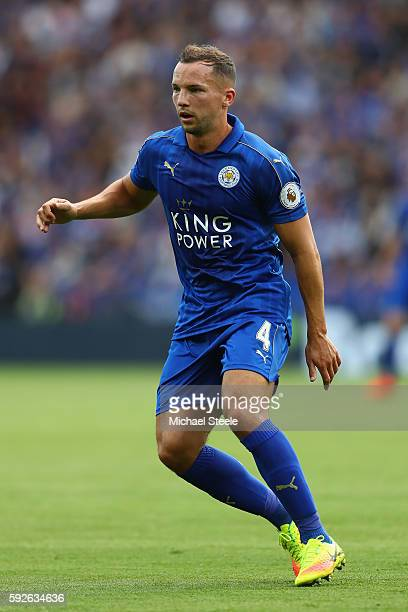 Danny Drinkwater of Leicester City during the Premier League match between Leicester City and Arsenal at The King Power Stadium on August 20 2016 in...