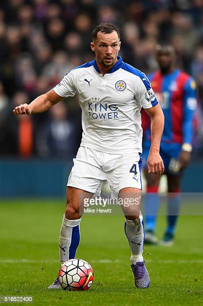 Danny Drinkwater of Leicester City in action during the Barclays Premier League match between Crystal Palace and Leicester City at Selhurst Park on...
