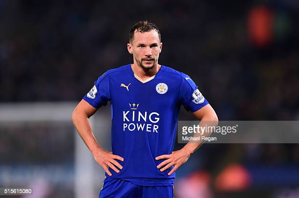 Danny Drinkwater of Leicester City looks on during the Barclays Premier League match between Leicester City and Newcastle United at The King Power...
