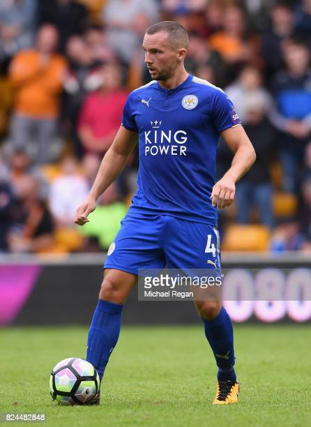 Danny Drinkwater of Leicester in action during the preseason friendly match between Wolverhampton Wanderers and Leicester City at Molineux on July 29...