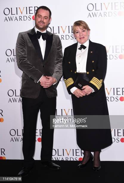 Danny Dyer and Captiain Inger Klein Thorhauge presenters of the award for Cunard best revivial during The Olivier Awards with Mastercard at the Royal...