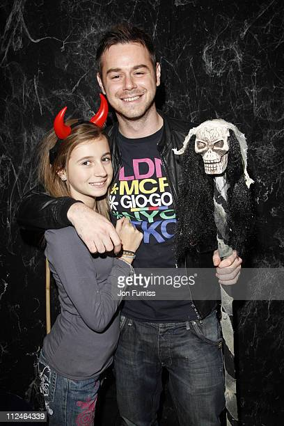 Danny Dyer and with daughter Dani attend the launch of the 'Fright Nights' season at Thorpe Park on October 16 2008 in Chertsey England